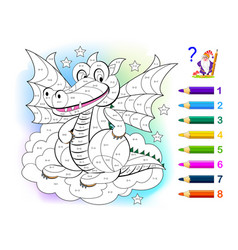 Math education for little children coloring book vector