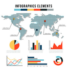 modern infographics elements set graphs vector image