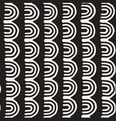 Monochrome minimalistic tribal seamless pattern vector