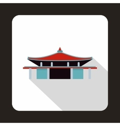 Pagoda icon in flat style vector image