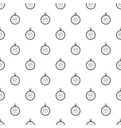 Pocket watch pattern simple style vector