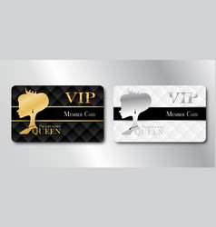 Queen member vip card vector