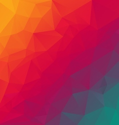 Rainbow spectrum red blue polygonal triangular vector