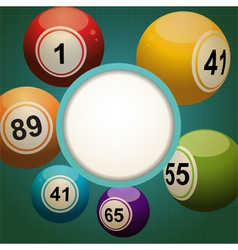 Retro bingo lottery ball background vector