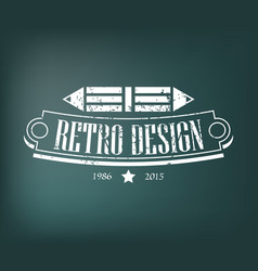 Retro vintage design elements business signs vector
