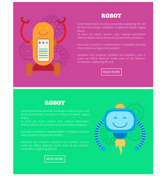 robot collection internet page vector image
