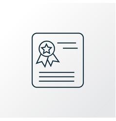school award icon line symbol premium quality vector image
