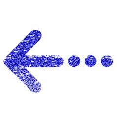 Send left grunge textured icon vector