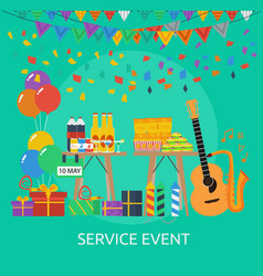 service event conceptual design vector image