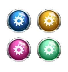settings cogwheel button vector image