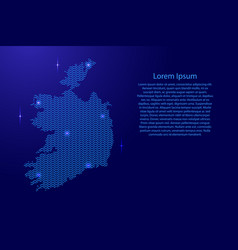 silhouette of ireland country from wavy blue vector image