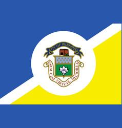 simple flag city canada vector image