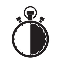 stopwatch thirty minute vector image