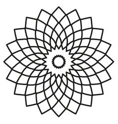 symmetric circular tribal ethnic ornament on a vector image
