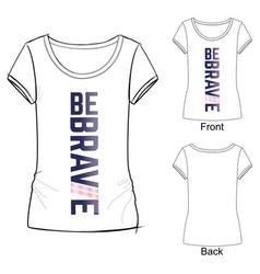 t shirt design idea for sport wear vector image