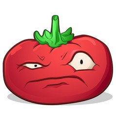 Tomato disgruntled cartoon vector