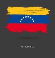 venezuela colorful brush flag vector image