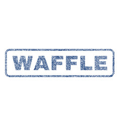 Waffle textile stamp vector