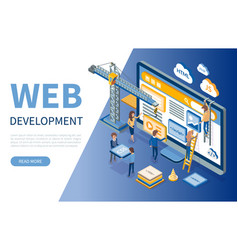 Web development developers optimizations of sites vector
