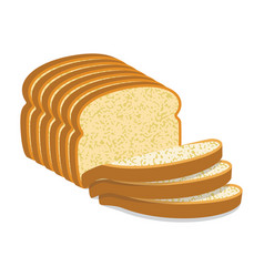 white bread slices vector image