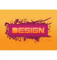 word design background vector image