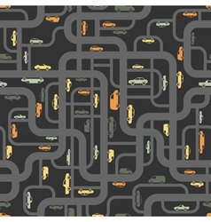 Abstract roads seamless pattern vector image vector image