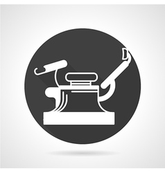Gynecology chair black icon vector image vector image