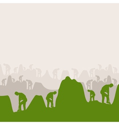 people dig holes on work a vector image vector image
