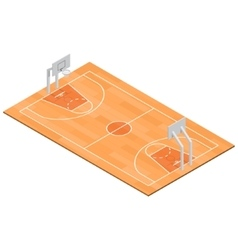 Basketball Field Isometric View vector image