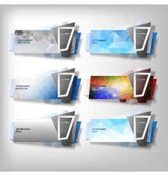 Big Infographic banners set origami styled vector image vector image