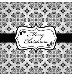 black and white Christmas wrapping vector image