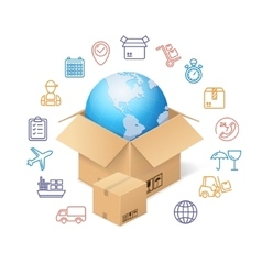 Delivery Concept Background vector image vector image