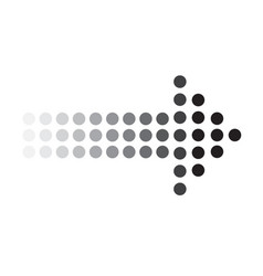 dots arrow icon on white background dots arrow vector image