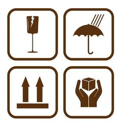 Fragile icons vector