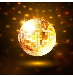Gold disco ball vector image vector image