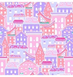 Houses New Pattern 4 vector image vector image