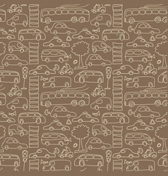 seamless transport pattern vector image vector image