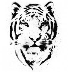 tiger stencil vector vector image vector image