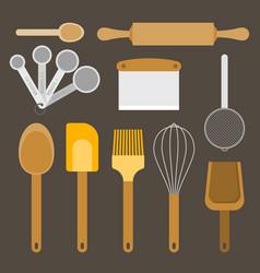 bakery equipment and utensils vector image