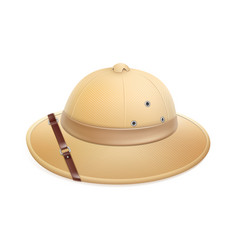 Beige safari hat vector