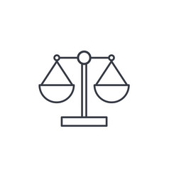 justice and law symbol scales thin line icon vector image