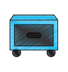 laundry drawer isolated icon vector image