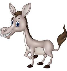 Cartoon funny donkey isolated on white background vector image vector image