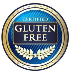 Gluten Free Blue Label vector image vector image