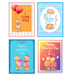 i love you valentines day vector image