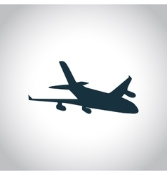 New plane black icon vector image