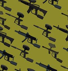 paintball guns seamless pattern vector image vector image