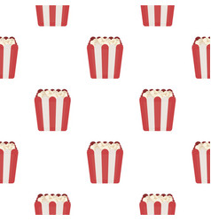 popcorn icon in cartoon style isolated on white vector image vector image