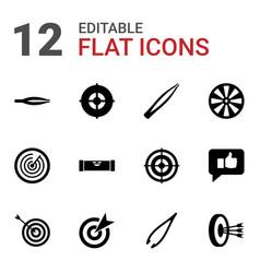 12 accuracy icons vector