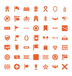 49 banner icons vector image